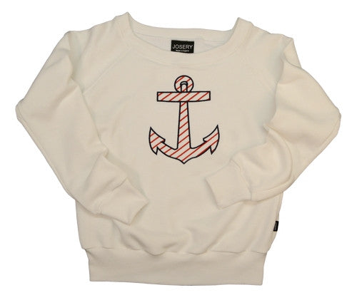 Women's sweatshirt with anchor design, made in England