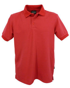 Men's red polo shirt, made in England