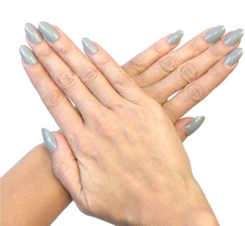 """24 Shades of Grey"" Oval Nails"