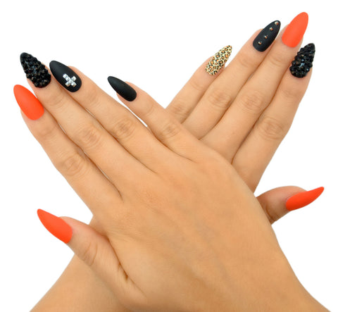 """Behind Closed Doors"" Stiletto Nails"