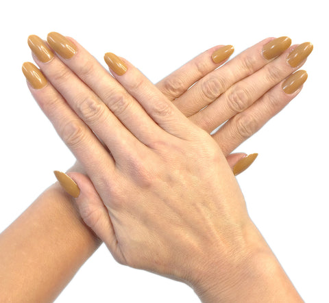 """Golden"" Oval Nails"