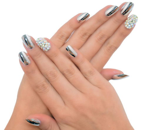 """Metallic Maven"" Oval Nails"