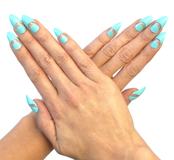 nailhur samantha aqua nails