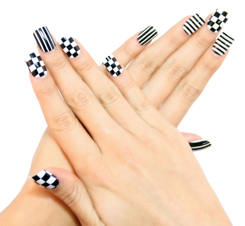 """Striptease"" Square Nails"