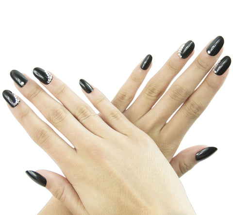 """Black Hole"" Oval Nails"