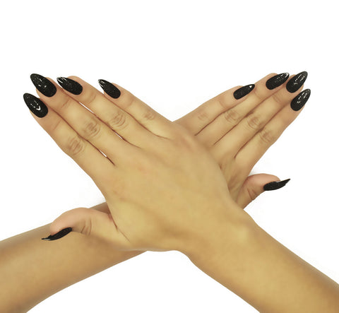 """Black Maven"" Stiletto Nails"