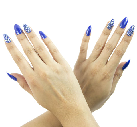"""Blue Me Away"" Stiletto Nails"