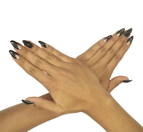 """Dark Horse"" Stiletto Nails"