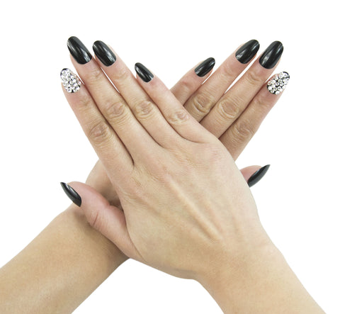 """Dark Matter"" Oval Nails"