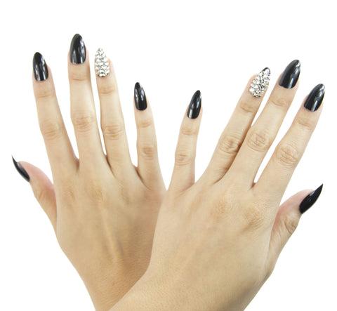 """Dark Matter"" Stiletto Nails"