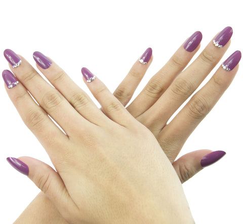 """Muave"" Oval Nails"