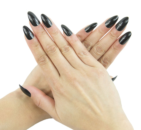 Nail Decal Black Stiletto Nails