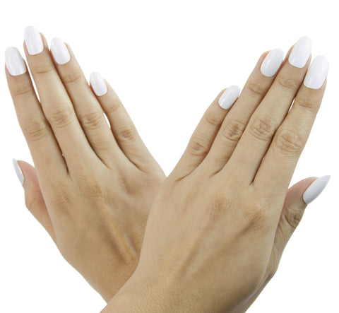 Nail Decal White Oval Nails