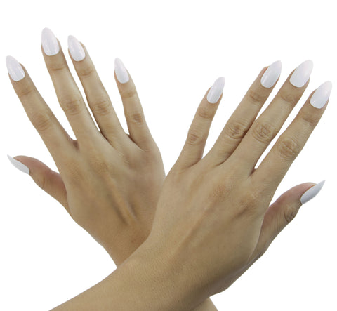 Nail Decal White Stiletto Nails