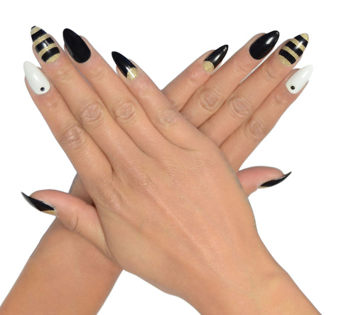 """Queen Bee"" Stiletto Nails"
