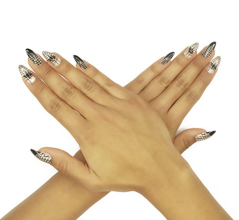 """Wrap Me Up"" Stiletto Nails"