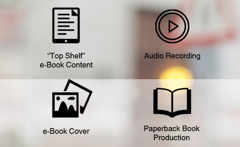 Bundle C = Top Shelf Content + eBook cover + Audiobook Recording + Paperback Book Production