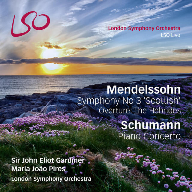 Mendelssohn Symphony No 3 'Scottish', Overture: The Hebrides, & Schumann Piano Concerto album cover