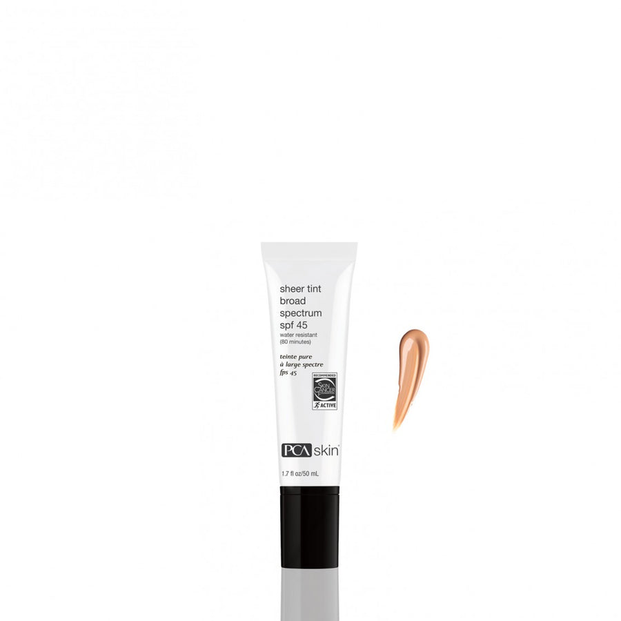Sheer tint broad spectrum SPF45