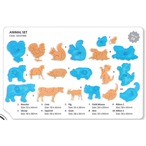 JEM Cutters Animal Set 10pcs