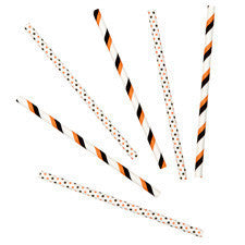 Wilton Orange/Black Colored Lollipop Sticks (30pcs)