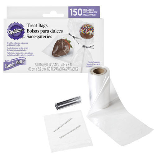 WILTON TREAT BAGS WITH TIES, MEGA PACK 150 CT.