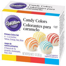 Wilton Candy Colors (Yellow-Orange-Red-Blue)
