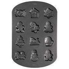 Wilton 12 Cavity Gingerbread and Candy Cookie Pan