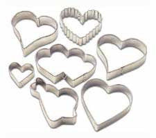 Wilton Hearts Metal Cutter Set 7pcs