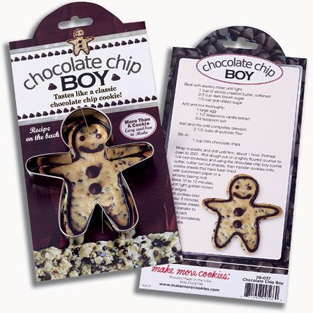 AC Chocolate Chip Boy Cookie Cutter (High Quality)
