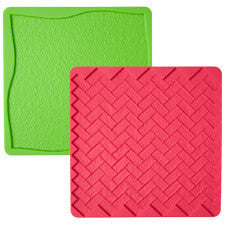 Wilton Grass/Brick 2-Pc. Silicone Texture Mat Set