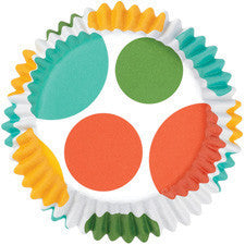 Wilton Yellow/Blue/Orange/Green Dots ColorCups Baking Cups (36pcs)