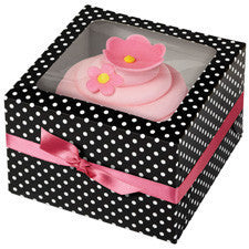 Wilton Black & White Dots Cupcake(1) Box 3pcs