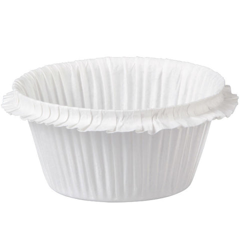 Wilton White Double Ruffle Cups