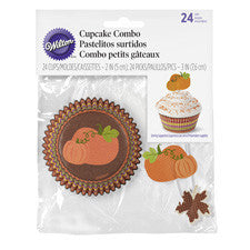Wilton® Thanksgiving Cupcake Baking Cups and Picks Combo, 24-Ct.