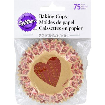 WILTON MADE WITH LOVE BAKING CUPS, 75-COUNT