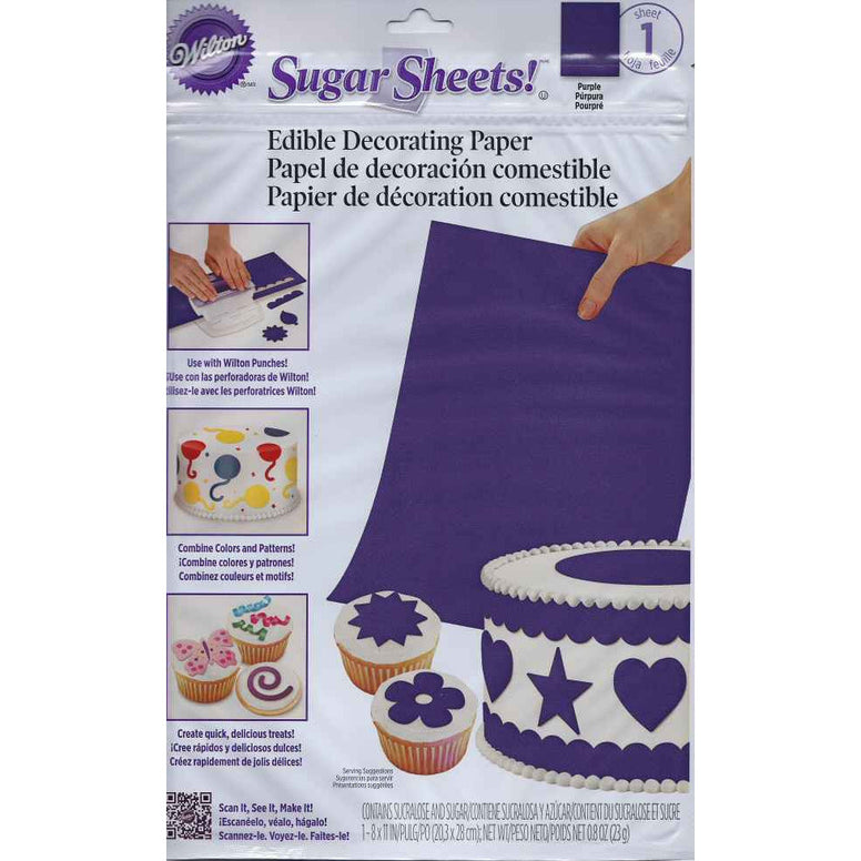 Wilton Purple Sugar Sheet