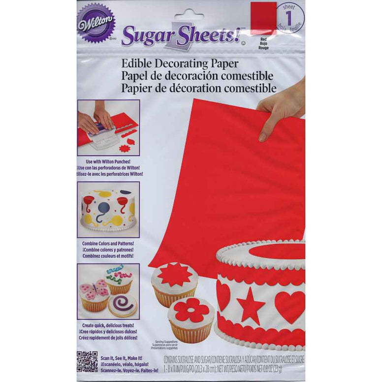 Wilton Red Sugar Sheet