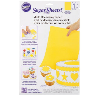 Wilton Light Yellow Sugar Sheet