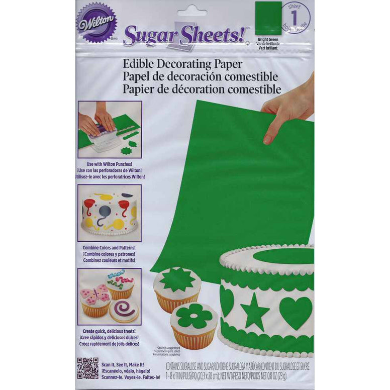 Wilton Bright Green Sugar Sheet