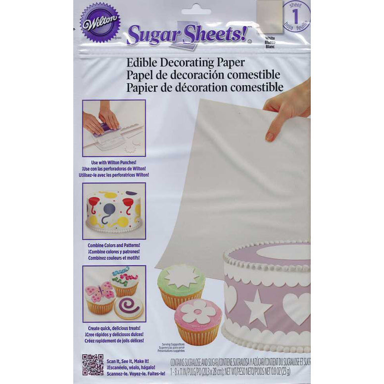 Wilton White Sugar Sheet