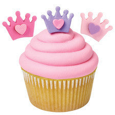 Wilton Crown with Heart Royal Icing Decorations 12pcs