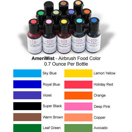 Americolor Amerimist 12 color Airbrush kit (12x20gr)