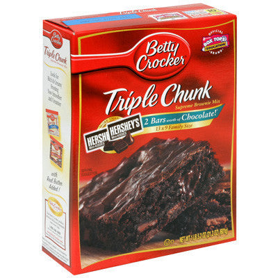Betty Crocker Hershey Triple Chunk Brownie Mix