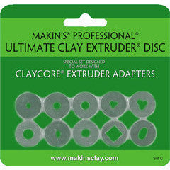 Makin's Professional® Ultimate Clay Extruder®  Discs C (ClayCore Adapters Designed)