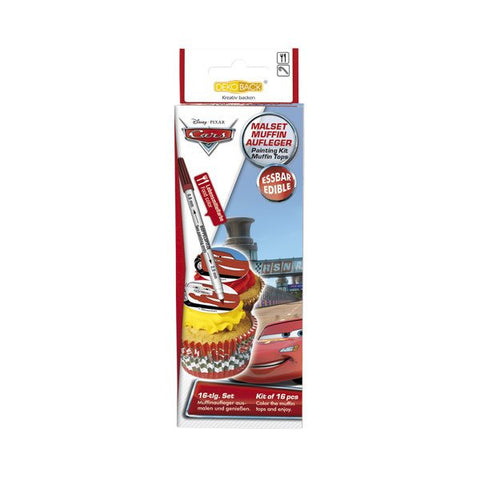 Cars Cupcake Painting Kit 16pcs