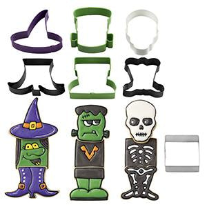 Wilton Monster Witch Skeleton Cookie Cutter Set