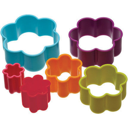 KC Six Piece Flower Shaped Cookie Cutter Set