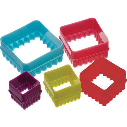 KC Five Piece Square Cookie Cutter Set