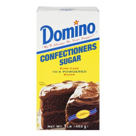 Domino Sugar Confection 10x Powdered (456gr) 1Lbs